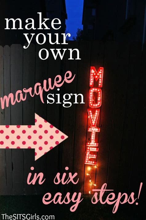 Diy Movie Marquee Sign